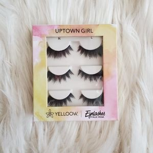 NEW - 3 Pack Of YELLOOW Faux Mink Eyelashes